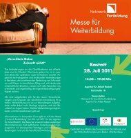 Weiterbildungstag Rastatt - Weiterbildung in Baden-Württemberg