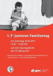 Spielplan Eon F-Junioren-Familientag - FLVW Kreis Paderborn