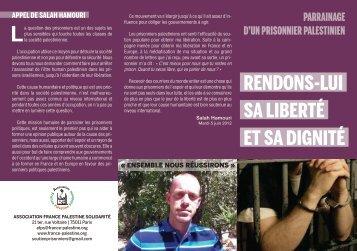 Plaquette de présentation - Association France Palestine Solidarité
