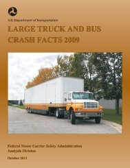Large Truck and Bus Crash Facts 2009 - Federal Motor Carrier ...