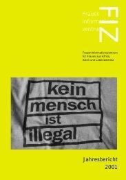 FIZFrauen informations zentrum Jahresbericht 2001