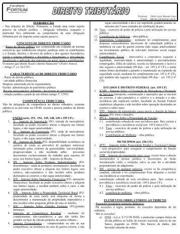 Apostila Direito Tributário - Fortium.edu.br