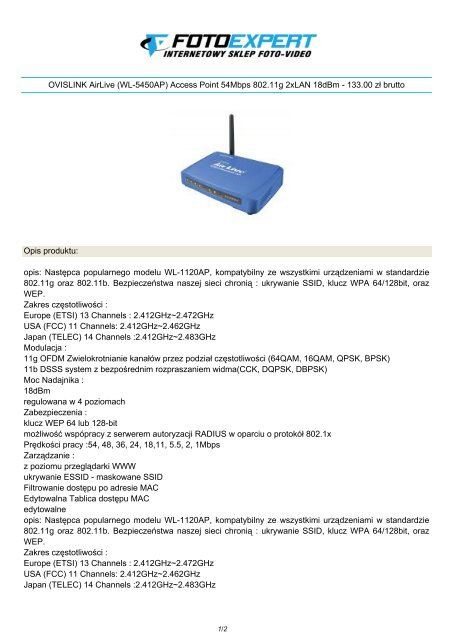 AIRLIVE WL-5450AP ACCESS POINT WINDOWS 7 DRIVERS DOWNLOAD