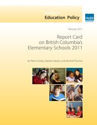 Report Card on British Columbia's Elementary ... - Fraser Institute