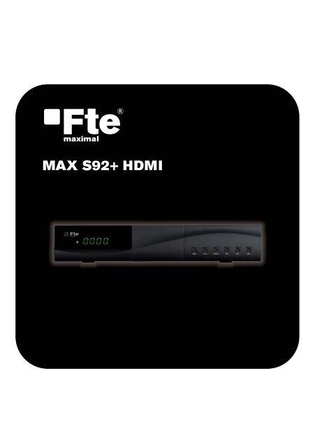MAX S92+ HDMI_EN_v1.0.indd - FTE Maximal