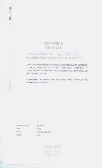 Estatutos - Foro Consultivo Científico y Tecnológico