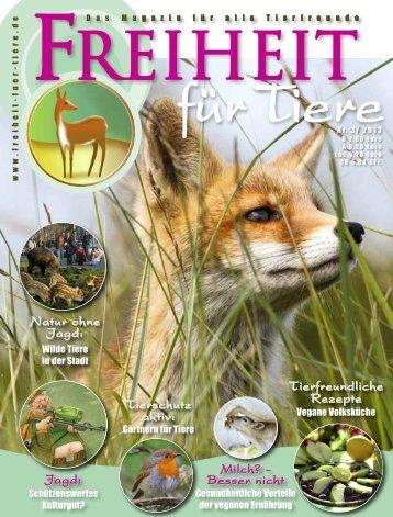 Titel und Inhaltsverzeichnis - Magazin Freiheit für Tiere