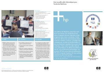 Une nouvelle salle informatique pour l'école de Melchnau (PDF ...
