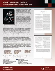 Black Literature Criticism: Classic and Emerging Authors ... - Gale