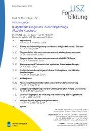 Bildgebende Diagnostik in der Nephrologie - Fortbildung ...