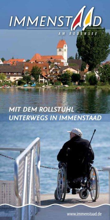 MIT DEM ROLLSTUHL UNTERWEGS IN IMMENSTAAD - Toubiz
