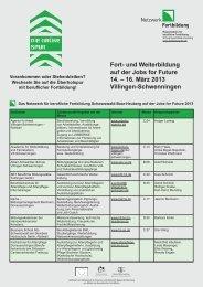 Messe-Flyer Mitglieder - Weiterbildung in Baden-Württemberg