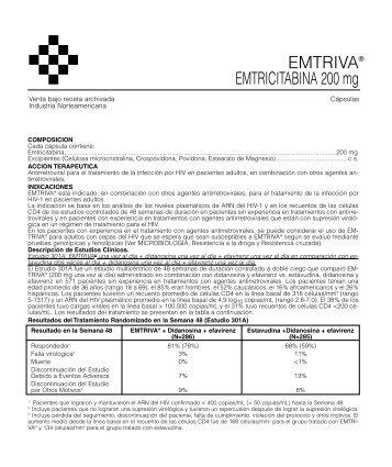 EMTRIVA prospecto 12/05 - Gador SA
