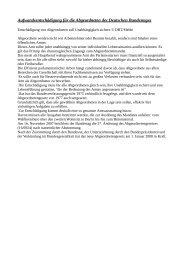 Aufwandsentschädigung für die Abgeordneten des Deutschen Bundestages