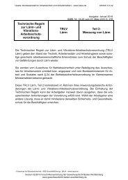 Technische Regel zur Lärm - Gewerbeaufsicht - Baden-Württemberg