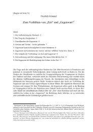 """Zum Verhältnis von """"Zeit"""" und """"Gegenwart""""* - Friedrich Kümmel"""
