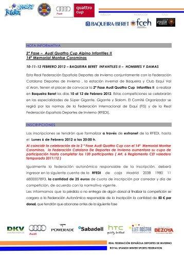 2 fase audi quattro cup infantiles II Baqueira.pdf - Federación ...
