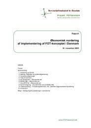 Økonomisk vurdering af implementering af FOT ... - FOTdanmark