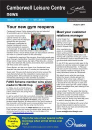 Camberwell Leisure Centre news - Fusion Lifestyle