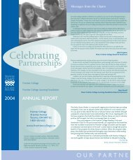 Rapport annuel 2004 - Frontier College