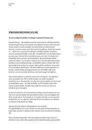 Pressemeddelelse - personlig formidling - Gammel Estrup