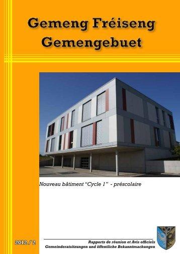 """2012 / 2 Nouveau bâtiment """"Cycle 1"""" - préscolaire - Frisange"""