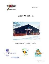 WEYWERTZ - Fédération du Tourisme de la Province de Liège