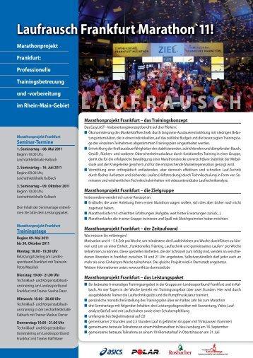 Laufrausch Frankfurt Marathon`11! - BMW Frankfurt Marathon