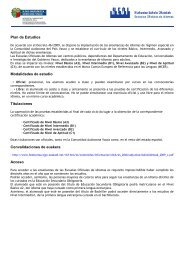 Plan de Estudios Modalidades de estudio Titulaciones ...