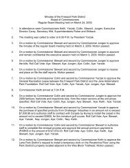 March 24, 2009 - Park Board Meeting Minutes - Freeport Park District