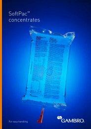 SoftPac™ concentrates - Gambro