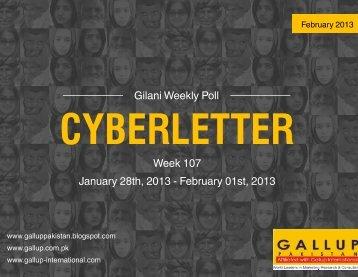 gilani cyberletter - Gallup Pakistan