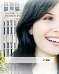 Vivacon AG Annual  Report 2007 - Investor Relations Center