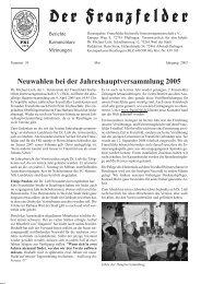 Ausgabe 39 hier herunterladen - Die Franzfelder