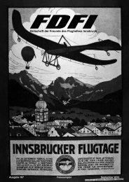 Zeitschrift der Freunde des Flughafens Innsbruck