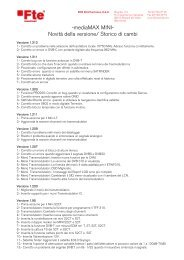 -mediaMAX MINI- Novità della versione/ Storico di ... - FTE Maximal