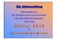 Abitur 2012 - gymnasium am wall verden