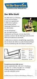 Der Bille-Stuhl - Beschäftigung + Bildung ev
