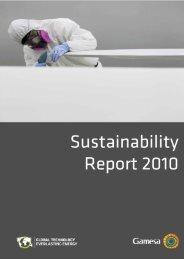 Sustainability Report 2010 - Gamesa