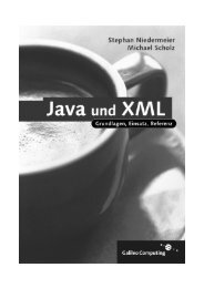Java und XML - Galileo Computing