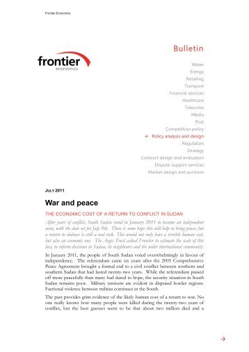 war and peace -.pdf - Frontier Economics