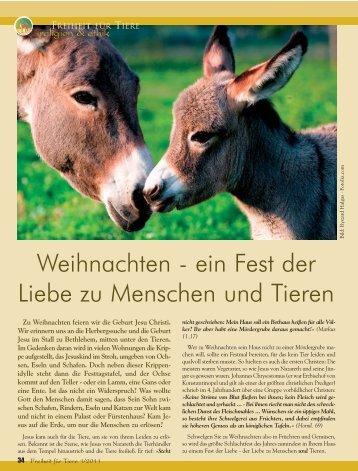 Religion & Ethik - Magazin Freiheit für Tiere