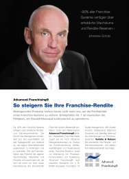 FSB - Flyer AF.qxp - Franchise System Beratung® - Johannes Schute