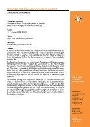 Programm Moehnesee Oekologie 2009 - Forum Unna