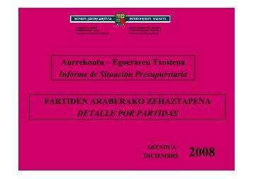 Aurrekontu – Egoeraren Txostena Informe de ... - Gazteaukera