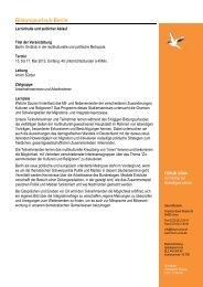 Geplanter Programmablauf Bildungsurlaub Berlin 2013... - forum unna