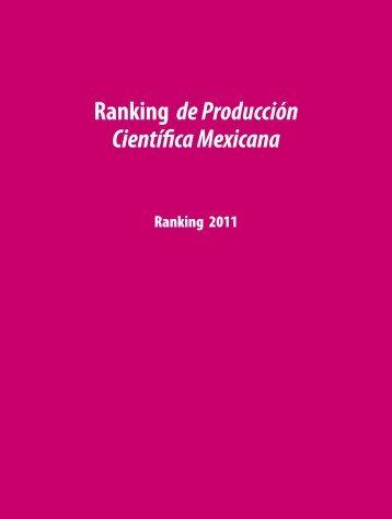 Ranking de Producción Científica Mexicana - Foro Consultivo