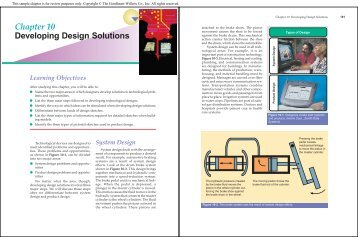 Chapter 10 Developing Design Solutions - Goodheart-Willcox