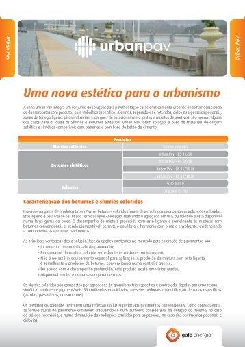 Linha de produtos Urbanpav - Galp Energia