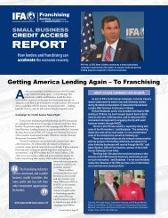IFA Credit Access Report - International Franchise Association